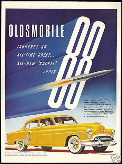 Oldsmobile Super 88 Deluxe Car Vintage (1951)