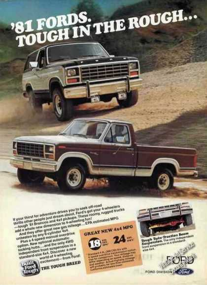 Ford Pickup Trucks Tough In the Rough (1981)