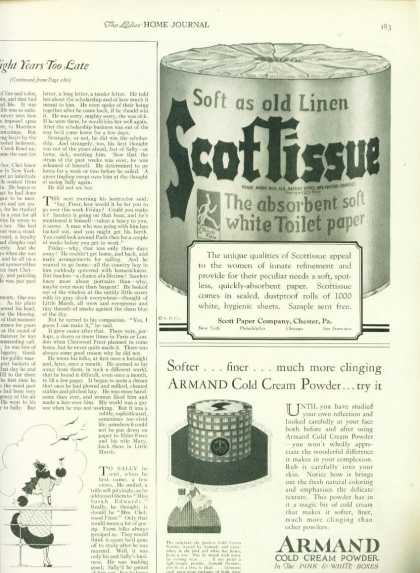 Scottissue Toilet Paper Ad 1/4 Page (1925)