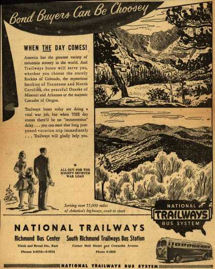 National Trailways Bus System – Bond Buyers Can Be Choosey (1945)