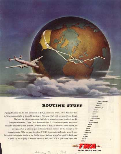 Transcontinental & Western Air – Routine Stuff (1945)