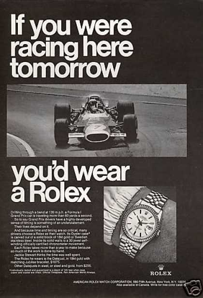 Formula 1 Race Car Jackie Stewart Rolex Watch (1969)