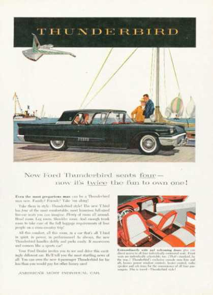 Ford Thunderbird at the Beach (1958)
