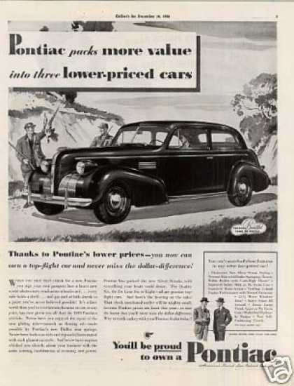 "Pontiac Car Ad ""Packs More Value... (1939)"