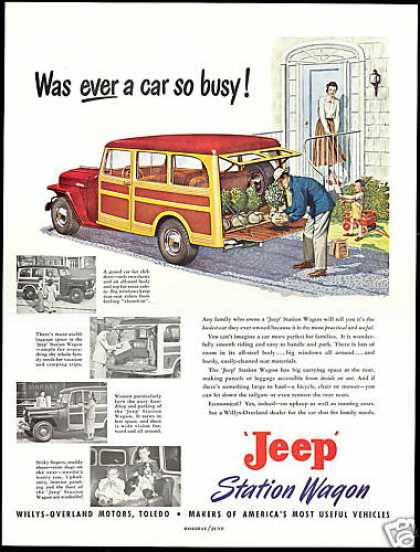 Jeep Woody Station Wagon Art & 4 Photos Willys (1949)