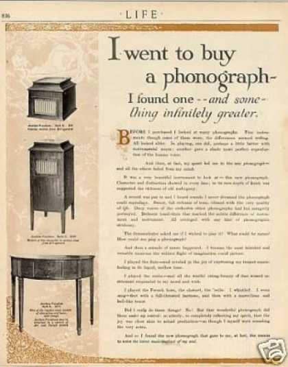 Aeolian Phonographs Ad 2 Page (1915)