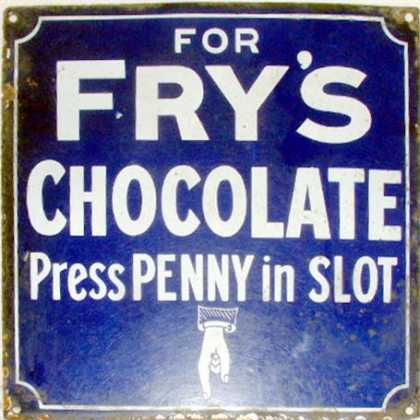 Fry's Chocolate Penny in the slot