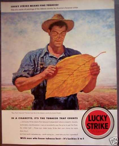 Lucky Strike Cigarettes James Chapin Art (1942)