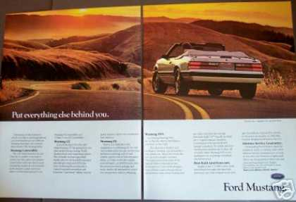 Ford Mustang Convertible Classic Car 2pg Photo (1985)
