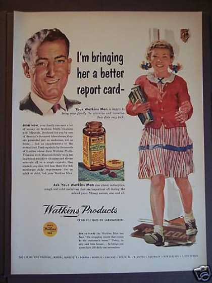 Watkins Multi-vitamins Little Girl (1953)