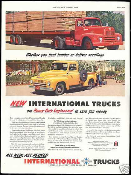 IHC International Big Truck & Pickup Photo (1950)
