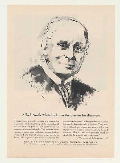 Alfred North Whitehead Passion Discovery Rand (1958)