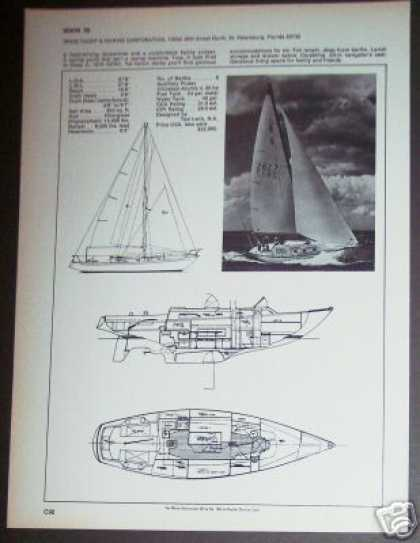 Irwin 38 Yacht Sailboat Boat Spec Page (1971)