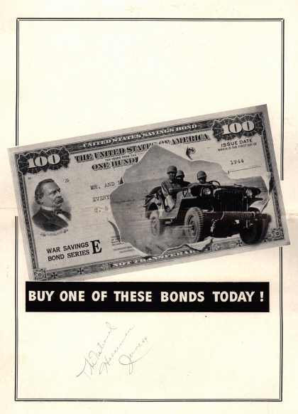 NA's War Bonds – Buy One Of These Bonds Today (1944)