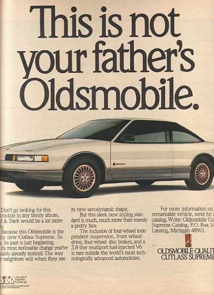 General Motor's Oldsmobile Cutlass (1988)