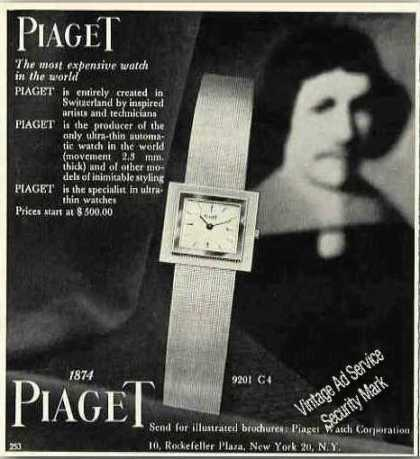 Piaget 9201 C4 Collectible Wristwatch (1962)
