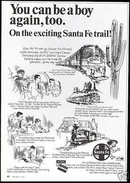 Santa Fe Train Railroad Santa Fe Trail (1967)