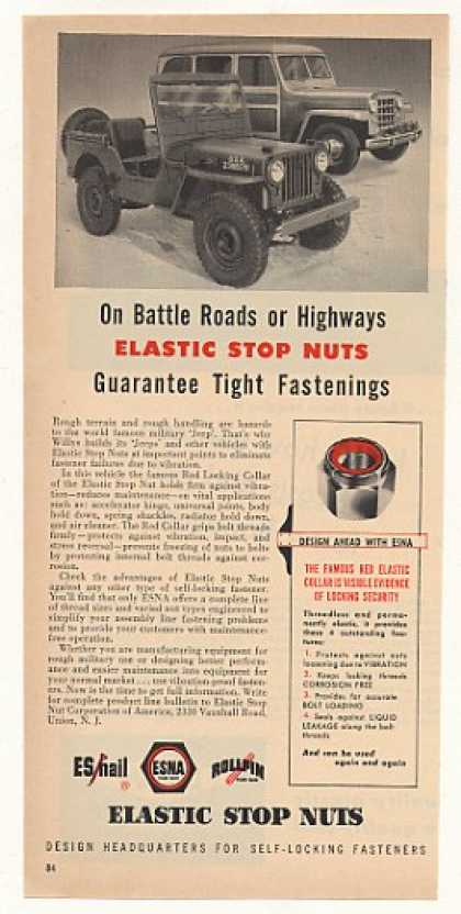 Willys Military Jeep ESNA Elastic Stop Nuts (1951)