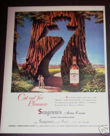 Paul Snyder Art Sequoia Tree 7 Crown Whiskey (1951)