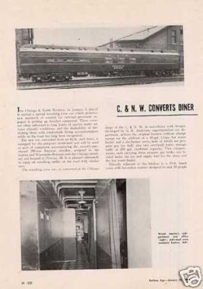 """C&nw Converts Diner for Wreck Crew"" Article (1949)"