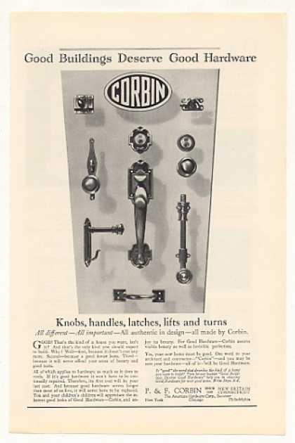 Corbin Hardware Knobs Handles Latches Lifts (1929)