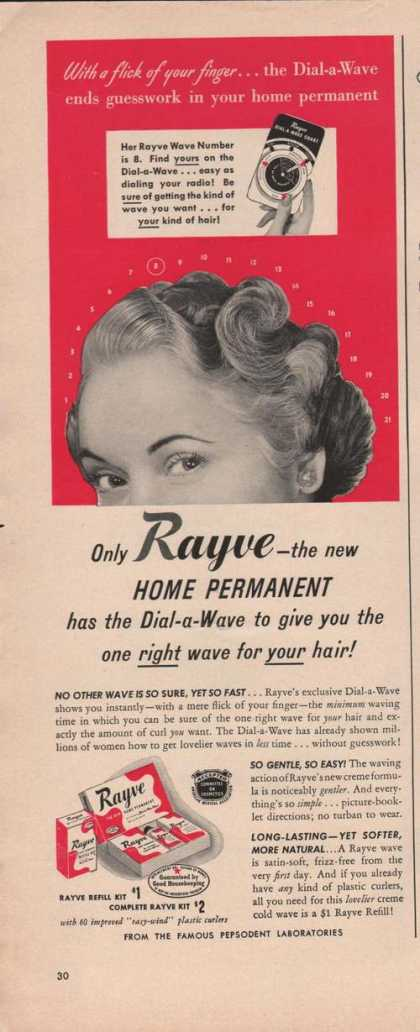 Rayve Home Permanent for Hair (1949)
