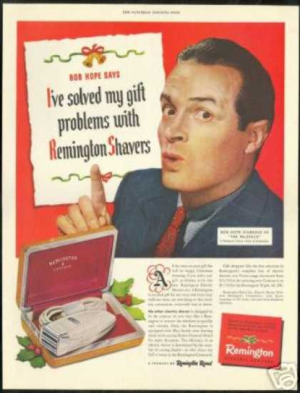 Bob Hope Photo Remington Electric Shaver (1948)