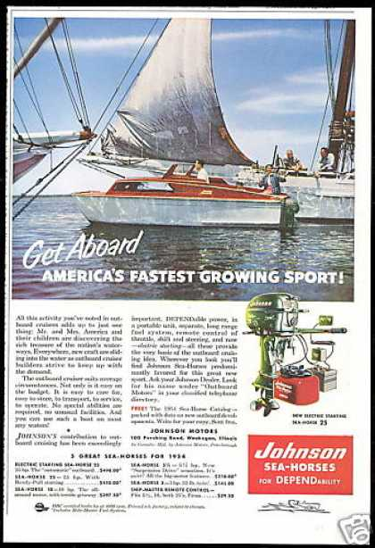 Johnson Outboard Boat Motor Photo (1954)