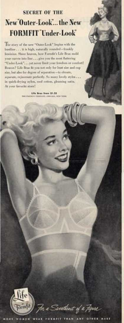 Lie By Formfit Womens Bra Underwear Ad T (1953)