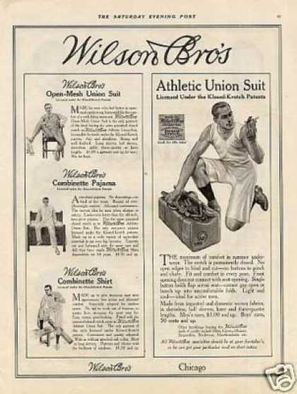 Wilson Bros. Union Suits (1914)