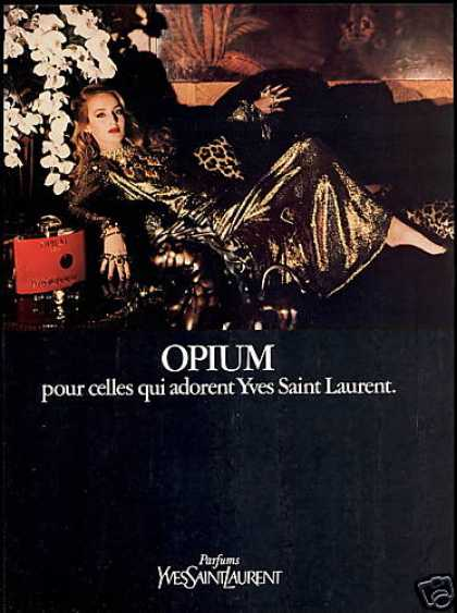 Yves Saint Laurent Opium Perfume Jerry Hall (1981)
