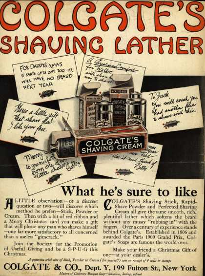 Colgate & Company's Colgate's Shaving Lather – Colgate's Shaving Lather (1914)