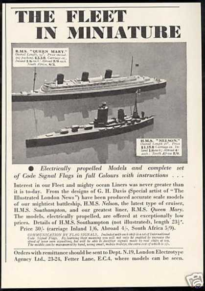 RMS Queen Mary HMS Nelson Ship Model (1938)