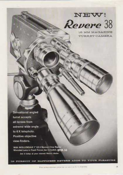 Revere 38 16MM Movie Turret Camera (1956)