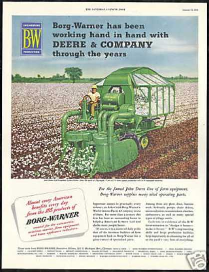 John Deere Farm Cotton Picker Borg Warner (1951)