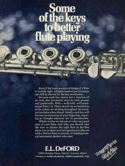 Deford Flutes Elkhart In Music (1976)