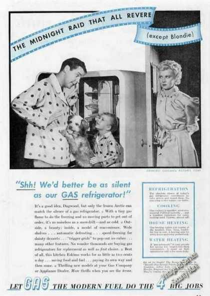 Dagwood & Blondie Rare Gas Refrigerator (1940)