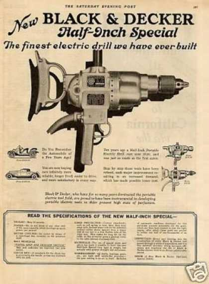 Black & Decker vintage ad