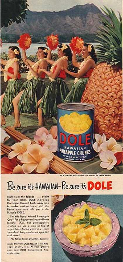 Dole's Hawaiian Pineaple Chunks (1954)