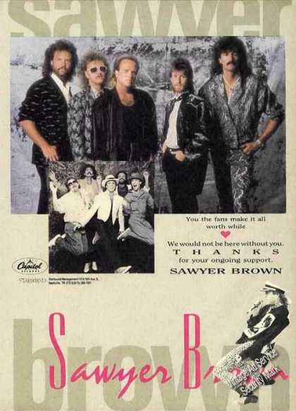 Sawyer Brown Group Photo Music Promo (1988)