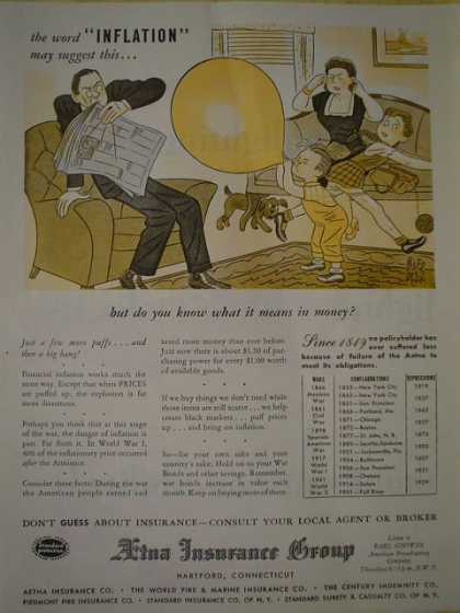 Aetna Insurance Group Inflation (1945)