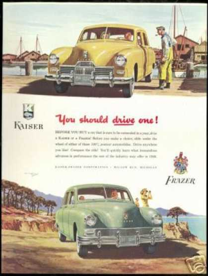 Kaiser Frazer Vintage Color Two Car (1947)