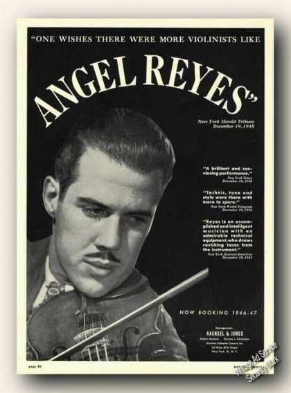 Angel Reyes Photo Violin Booking (1946)