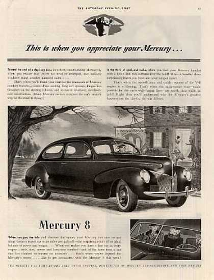 "Mercury Eight Car Ad ""This Is When... (1940)"