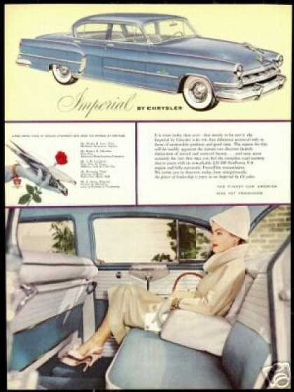 Chrysler Imperial Pretty Woman Vintage Photo (1954)