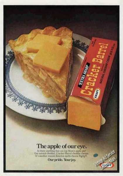 Cracker Barrel Cheddar Cheese On Apple Pie (1977)