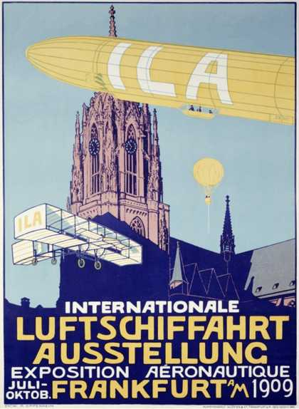 Vintage German Air Show Poster (1909)