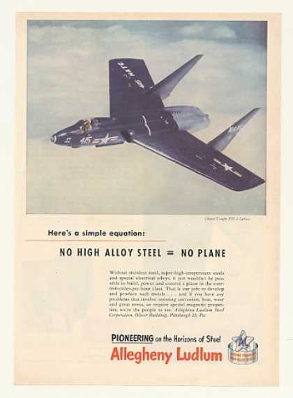 Chance Vought F7 U-1 Cutlass Allegheny Ludlum (1952)