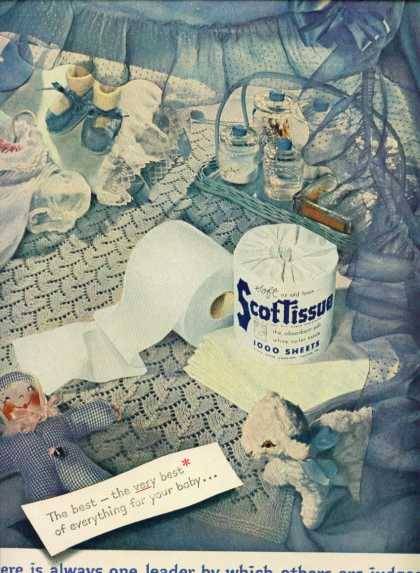 Scottissue Toilet Paper C (1953)