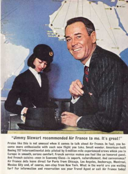 Air France Travel Ticket Desk Henry Fonda (1961)